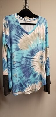 Aqua Tie Dye long sleeve