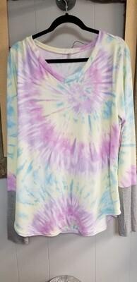 Lavender Tie Dye long sleeve