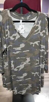 V Neck Camo Shirt