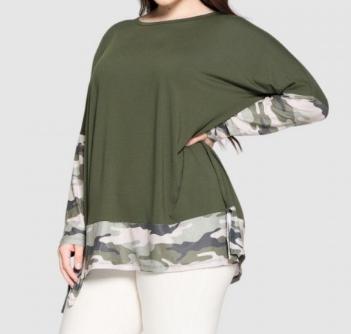 Camo Sleeve Tunic
