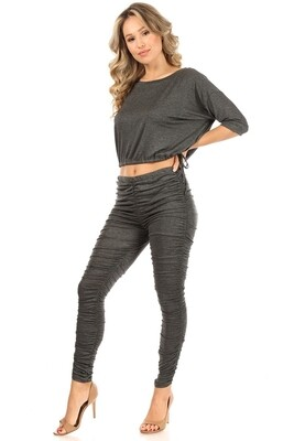 Ruched Pant and Top Set
