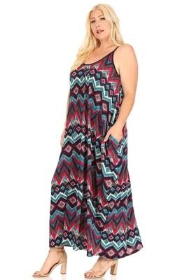 Geometric Purple Dress