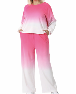 Ombre Crop Louge Suit