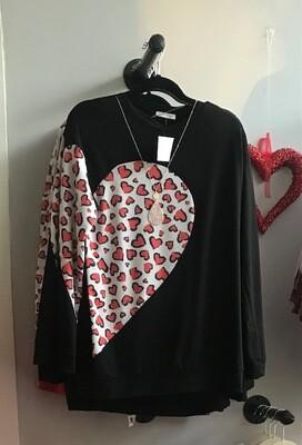 Black & Hearts Shirt