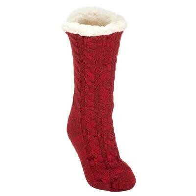 Elanze Burgandy Socks