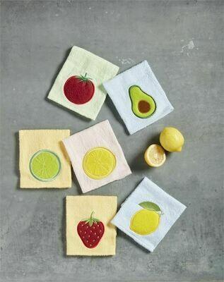Mudpie Fruit & Veggie Scrubber Dishcloth Set of 2