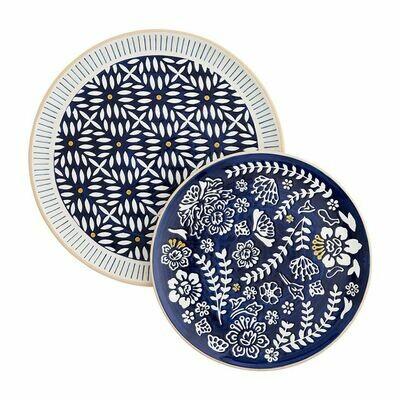Mudpie Indigo Nested Platters