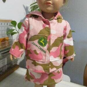 5 Piece Pink Camouflage Outfit For 18