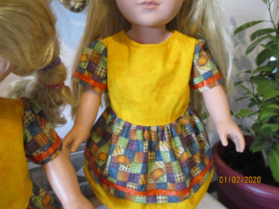 Autumn Print Cotton  Dress for 18