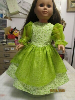 Green Glittery Maxi Dress for 18