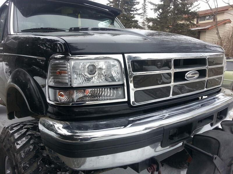92-97 Ford OBS Chrome 3 piece retrofit