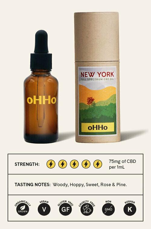 oHHo New York Full-Spectrum CBD Oil