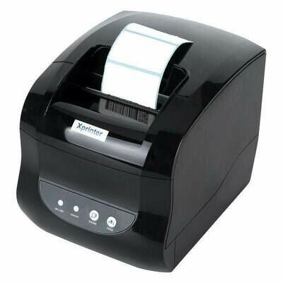 Принтер этикеток Xprinter 365B для печати наклеек штрих-кодов и чековый принтер, 2 в 1