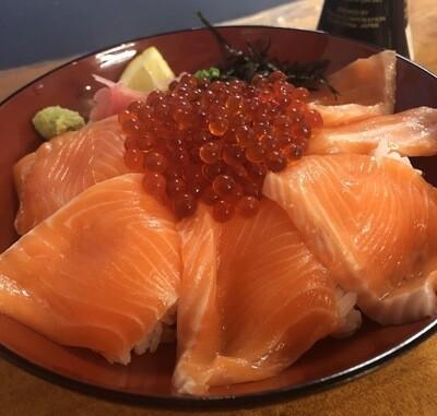 Salmon Ikura Donburi