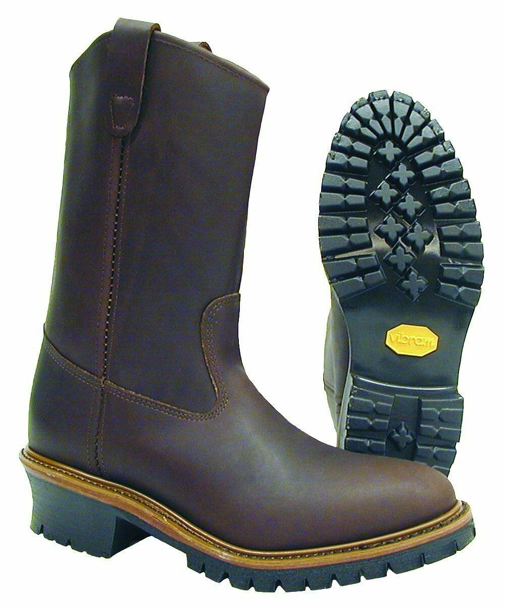 Hall's 626 12 Pull-On Brown Lineman Boot
