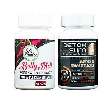 Diet Slim Secret ™ Caps 30 + Carb Block Phase 2 - Metabolic booster 60 Caps + + Apple Cider Vinegar Plus Capsules 60