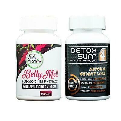 Belly Melt Coleus Forskohlin 30 Caps + Detox Lean 4_90 Caps