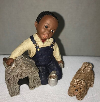 All God's Children Figurine - Dylon & Dog