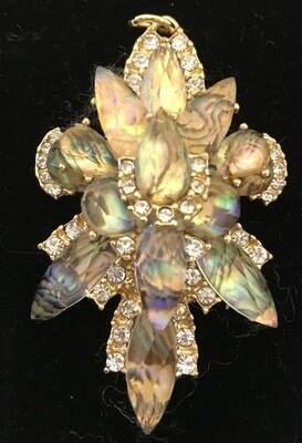 Large Crystal and Rhinestone Brooch