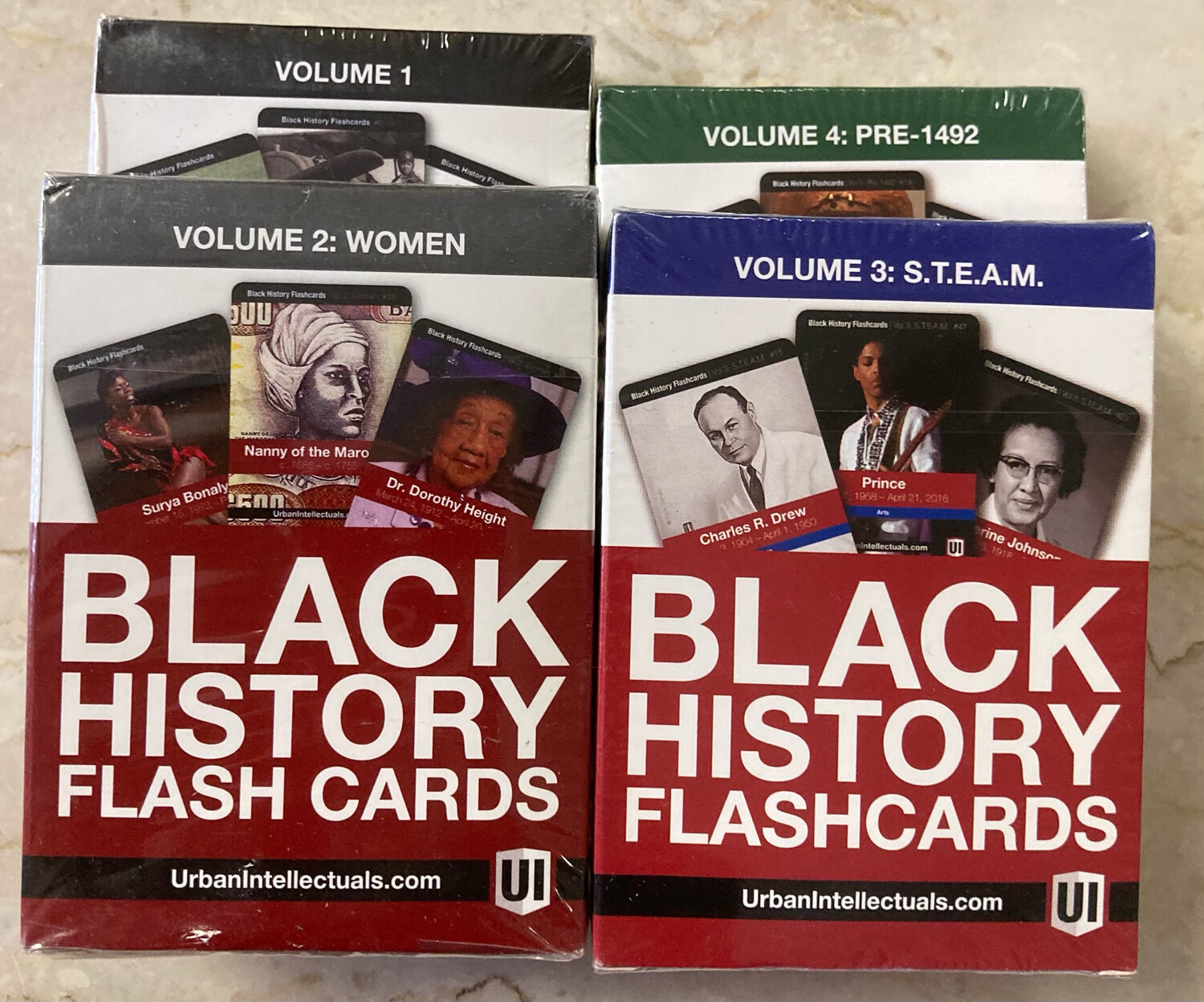 Black History Flashcards - Volumes 1-4