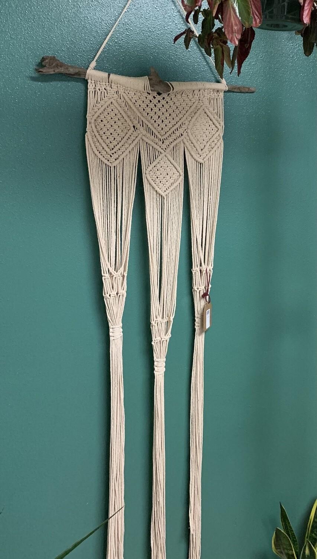 Handmade macramé plant holder