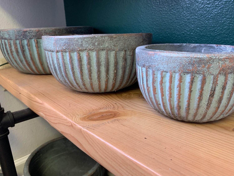 Ridged Bowl Planter