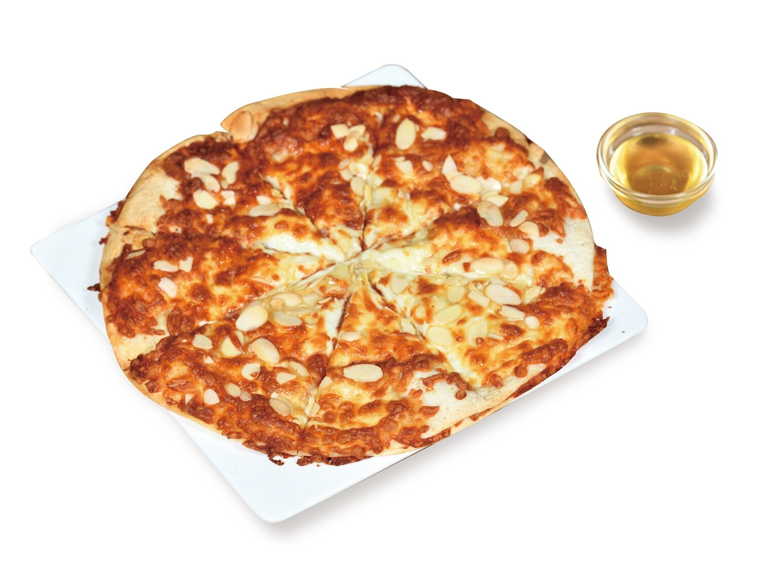 MOCHI CHEESE PIZZA WITH HONEY DIP