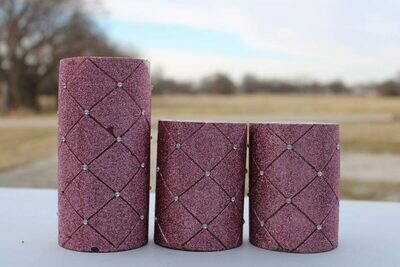 Pink Sparkly Candles