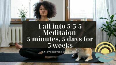 5-5-5 Meditation Virtual Video Series