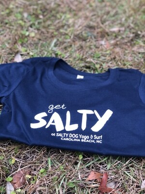 Get Salty Women's Fitted Tee- Large