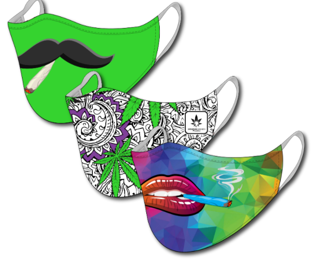3-Mask Cannabis Themed Bundle