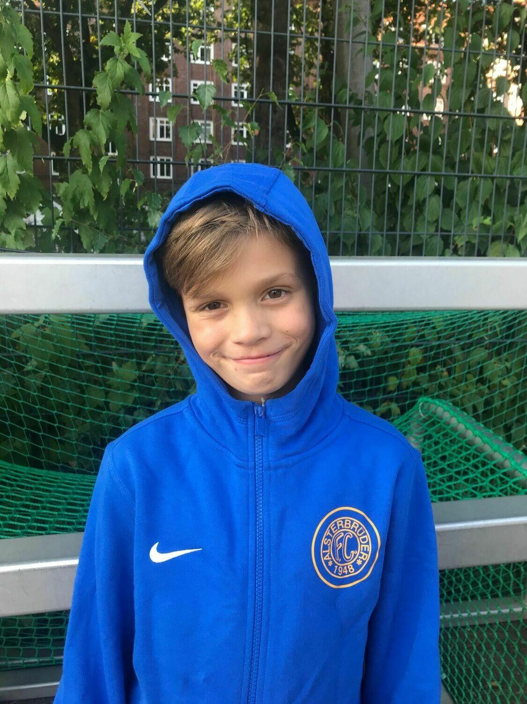 Nike Team Club 19 Full-Zip Hoody Blau (463) Kinder-S