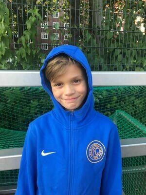 Nike Team Club 19 Full-Zip Hoody Blau (463) Kinder-XS