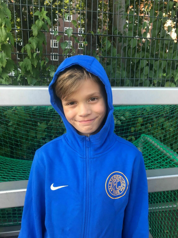 Nike Team Club 19 Full-Zip Hoody Blau (463) Kinder-XL