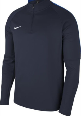 Nike Academy 18 Drill Top Sweatshirt Kinder Dunkelblau (451) mit gelbem Logo
