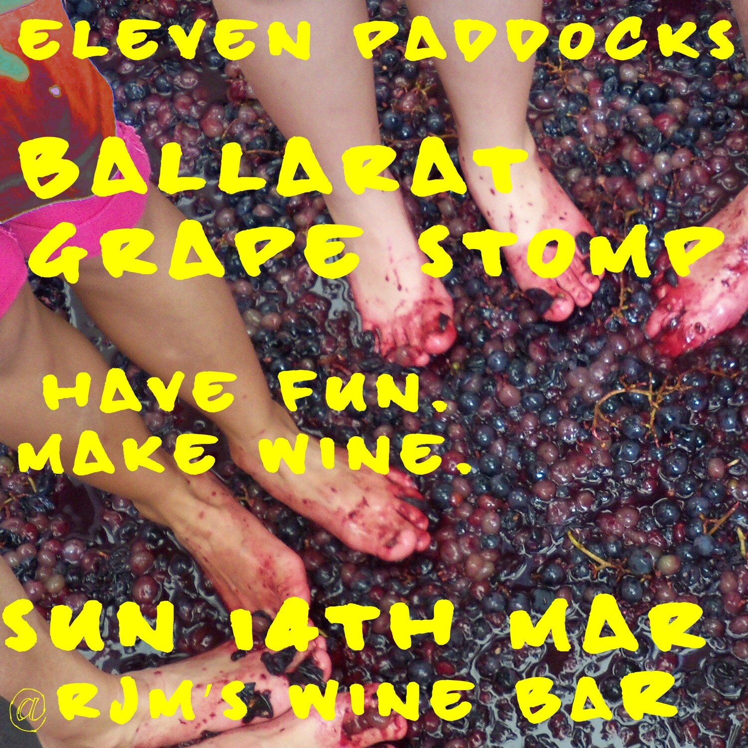 Ticket- 14th MAR- INDIVIDUAL Grape Stomp & press