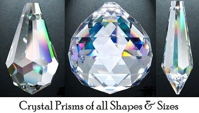 Assorted Crystal Prisms - Teardrop, Ball, Droplet