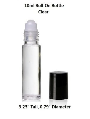 10ml (0.33oz) Roll-On Roller Bottles clear