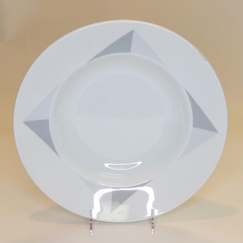 "Large Diamonds Pasta Bowl 12""- Dozen"