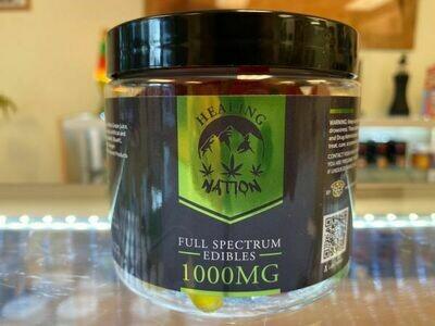HEALING NATION FULL SPECTRUM 1000MG CBD GUMMIES