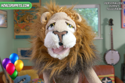 """Puppet Telegram - From """"Lionel the Lion"""""""