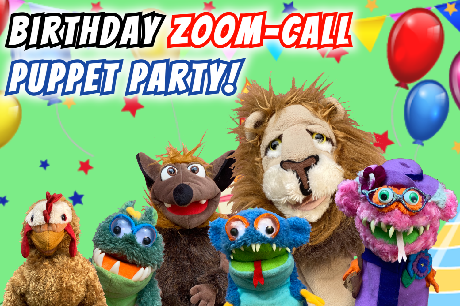 """Birthday Zoom-Call """"Puppet Party"""""""