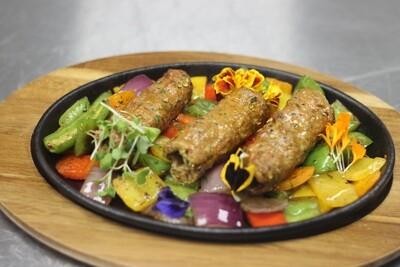 Beef chingari seekh kabab