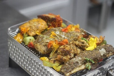 Seafood Mix Grill  Lobster tail   Grill Prawn   halibut   red snapper    Mahi Mahi   Pangasius
