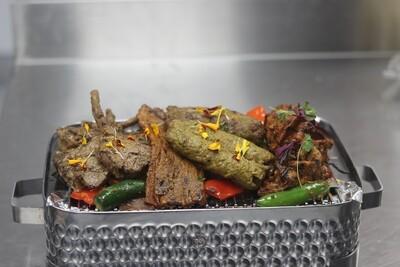 Mix Meat Grill  Grill Lamb chops | Goat seek kabab | chatkara  kebab | Beef Behari