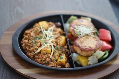 Barishi Chicken Qeema Plus chicken kabab  (kohinoor special sizzler)