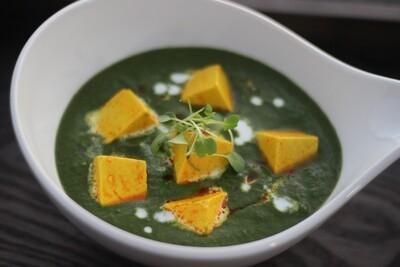 Hara Bagh   Palaka Paneer  Spinach   cottage cheese   garlic   butter   green chili