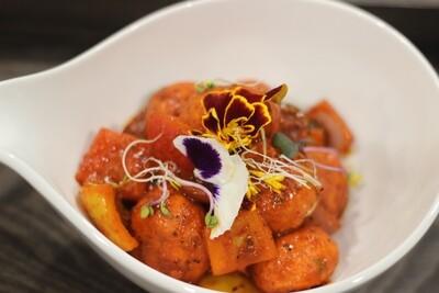 Lajawab Kofta  Chicken meatball | bell pepper | onion | chili | sweet Glazed | fresh coriander