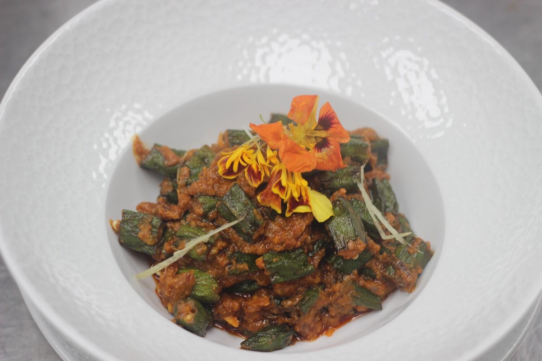 Mazaidar bhindi | Okra masala  Okra | tomato | onion | mix spice | fresh herb