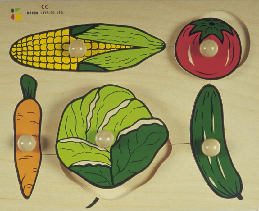 פזל כפתור עץ ירקות